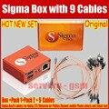 100% Original El 2016 la más nueva versión sigma caja con 9 cables con Paquete de 1 Paquete de 2 de activación para Alcatel Huawei ZTE