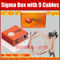 100% Original The 2016 newest version sigma box with 9 cables with Pack 1 + Pack 2 activation  for  Alcatel Huawei ZTE