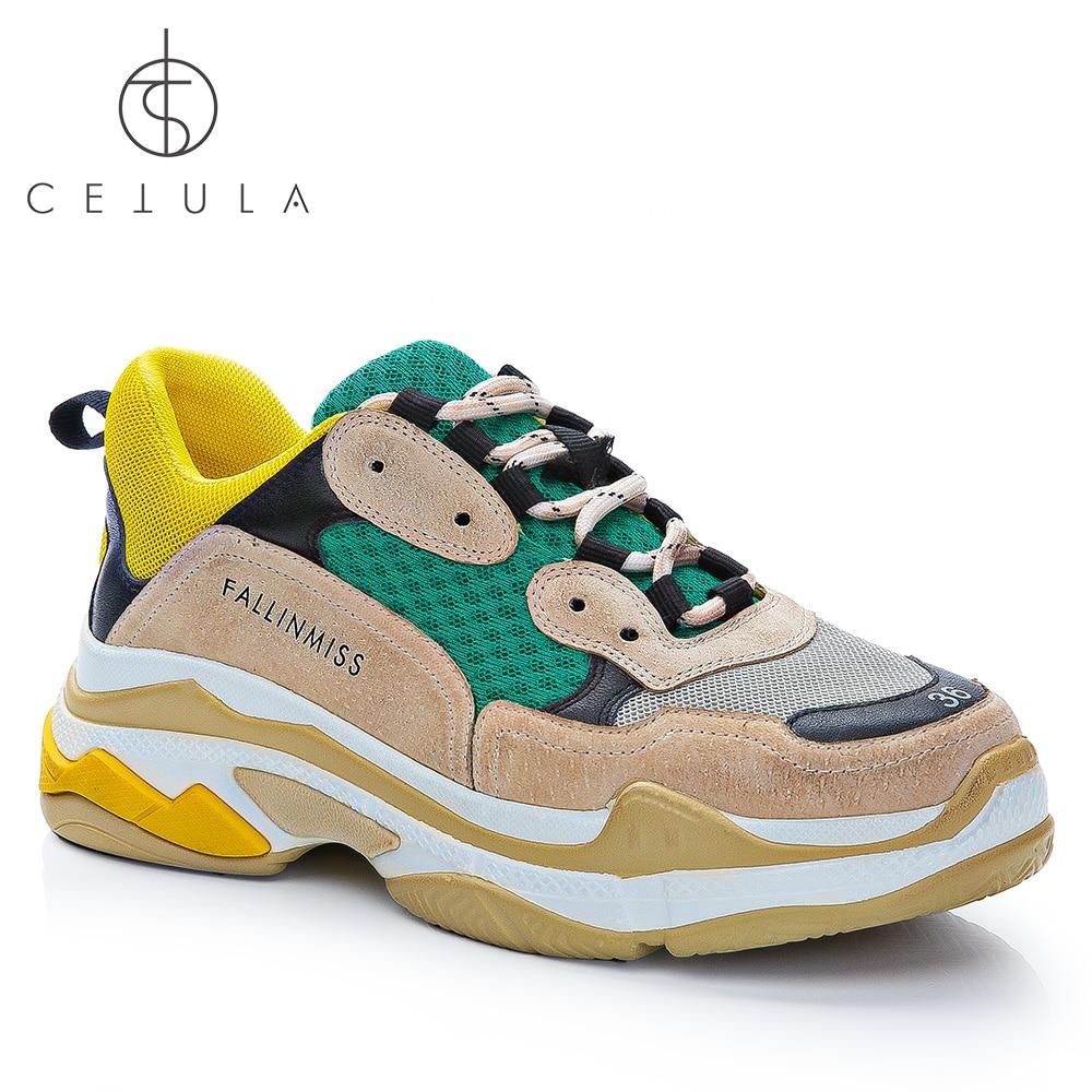 Cetula 2018 tänava stiilis massiivne käsitööna valmistatud - Naiste kingad