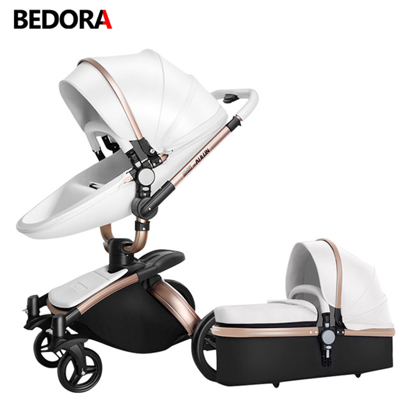 цены Bidirectional high landscape baby stroller Shock absorber baby carriage Can sit and Lie down Trolley Folding stroller baby cart