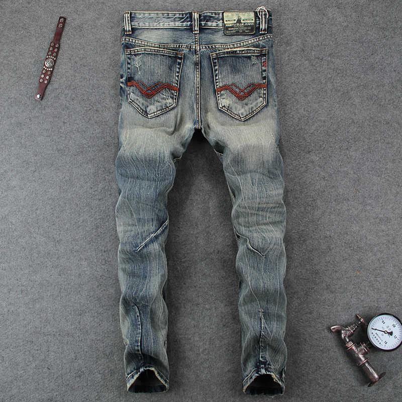 Vaqueros de diseñador de moda para hombre Pantalones vaqueros rasgados con agujeros en la rodilla para hombre los hombres