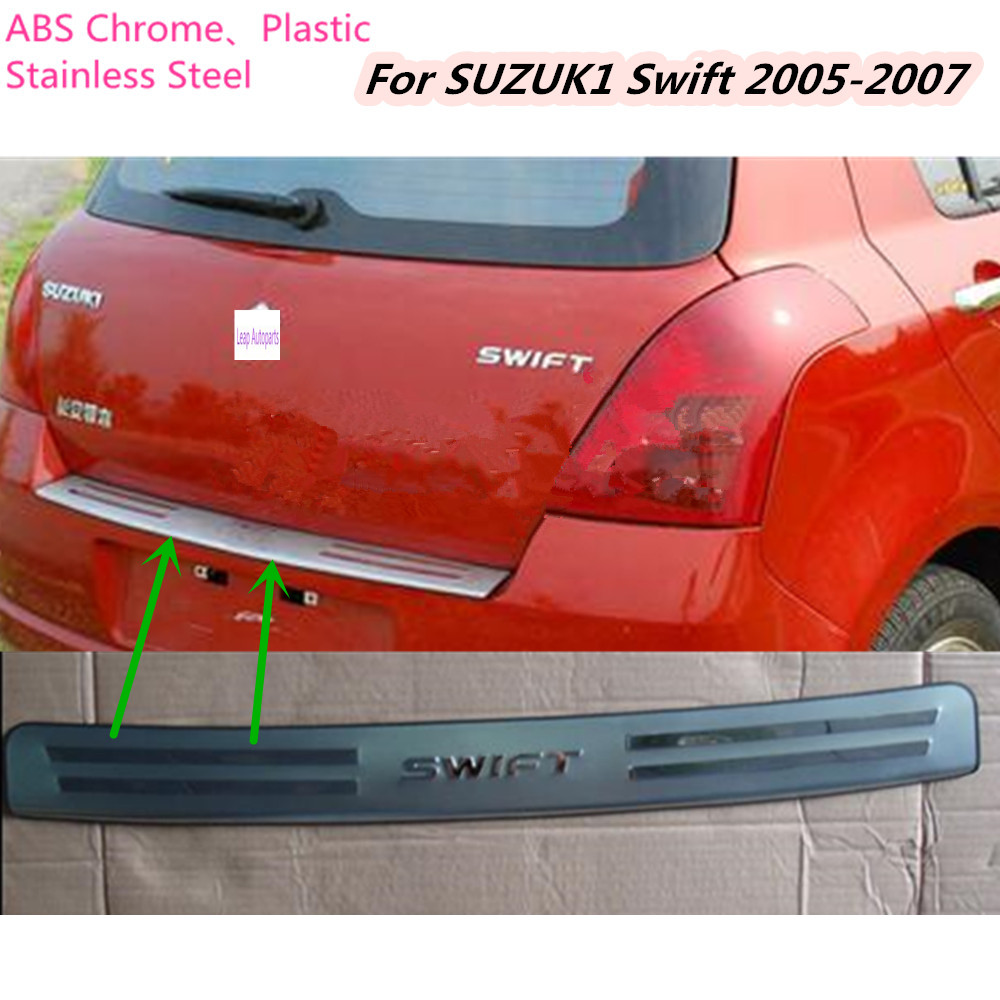 Top sale For Suzuki Swift 2005 2006 2007 Stainless Steel Rear Back Pedal Door Scuff Plate Frame outside external Threshold 1pcs