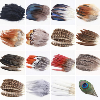 New 30pcs High quality Beautiful Natural Peacock Feather Pheasant Feathers Plume Jewelry Christmas Holiday Decoration Optional wholesale 4 8cm 1 6 3 2 inch pheasant feathers for crafts clothing costume feathers for jewelry making decoration natural plumes