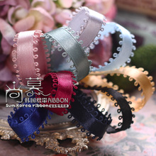 100yards 10mm 16mm picot ribbon korean satin for diy hair bow bowknot accessories wedding party decoration