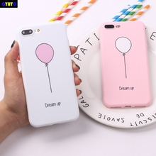 Cyato Balloon Pink Girl Dream Cute Soft TPU Silicone Matte Case Fundas Coque Cover For iPhone 11 XR XS Max X 7 8 6 6S Plus 5 5S