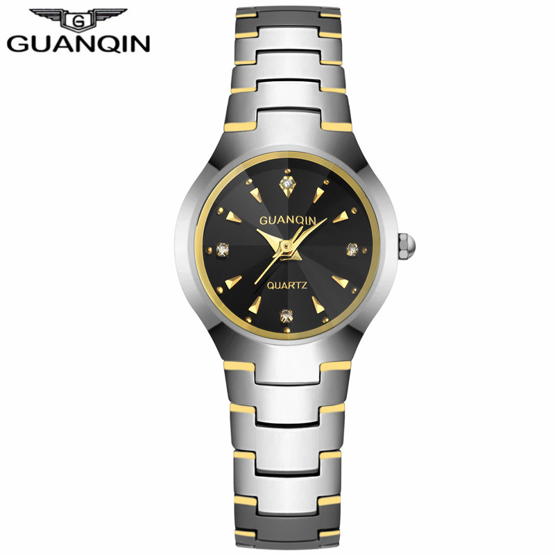ФОТО GUANQIN GQ30018 Fashion Watch Women Dress relogio feminino waterproof Tungsten Steel gold bracelet watches relojes mujer