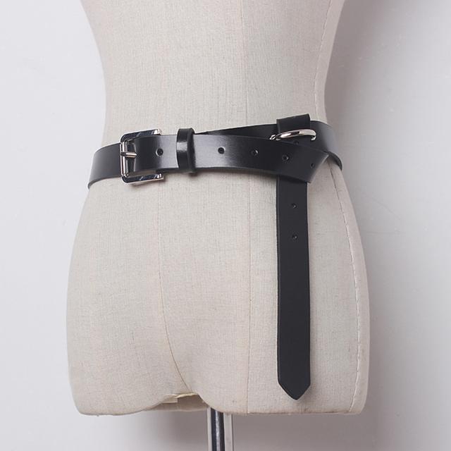 [CHICEVER] 2017 Negro Salvaje de Cuero Cinturones de Diseño Mujeres de La Primera Capa de Cuero Delgada Nuevo