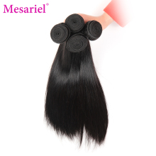 Mesariel Brazilian Straight Hair Bundles Non-Remy Hair Free Shipping Natural Black Color 100% Human Hair Weave(China)
