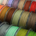 0.8mm  Nylon Cord Thread Chinese Knot Macrame Cord Bracelet Braided String DIY Tassels Beading  25m/roll No1~16