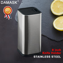 Damask Multifunctional PP+Stainless Steel Block Stand Ceramic Stainless Damascus Kitchen Knife Holder Tools