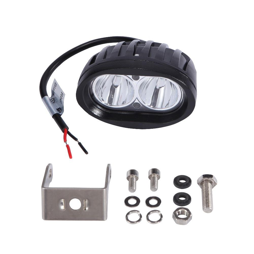 20W Oval LED Light Work Work Offroad Car Auto Auto Camion ATV - Faruri auto - Fotografie 4