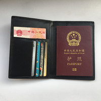 RFID Genuine Leather Passport Cover Anti Magnetic Business Card Holder Passport Holder Clip Set of Document and Money