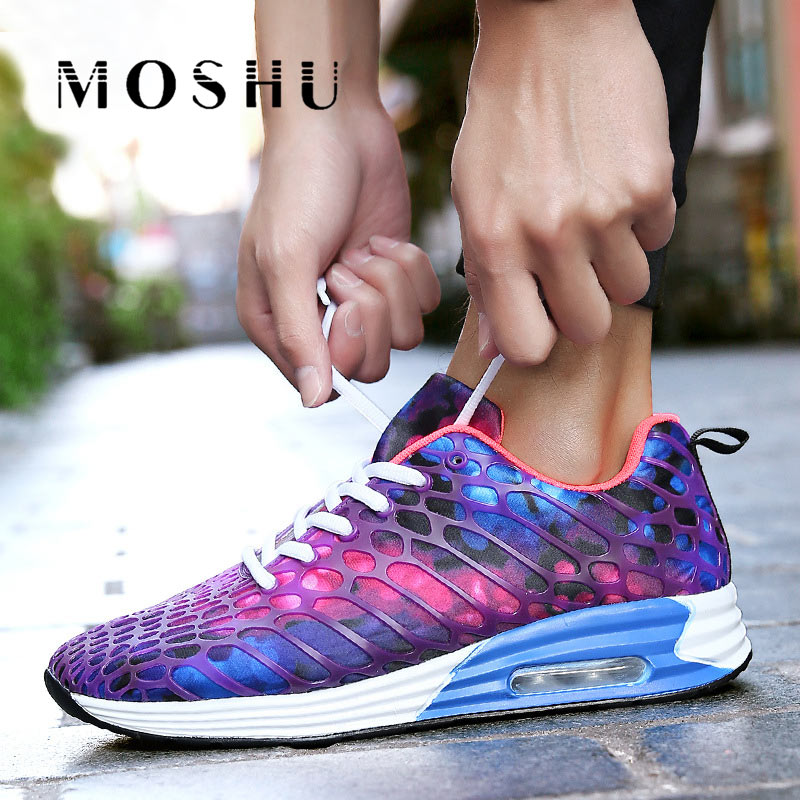 Men Summer Mesh Breathable Sneakers Trainers Casual Couple Shoes Walking Camouflage Lace-up Men Shoes Zapatillas Hombre стоимость