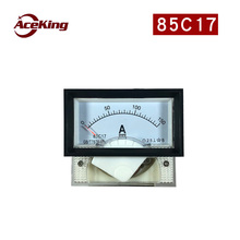 85C17 pointer dc ammeter head with black frame mechanical 50mA10A150V customizable through 10a 20a 100a 40x70