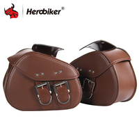 HEROBIKER 1Pair Motorcycle Bag Swing Arm Saddle Bag Motorcycle Tank Bag PU Leather Motor Bike Accessories Side Box Slant Pouch
