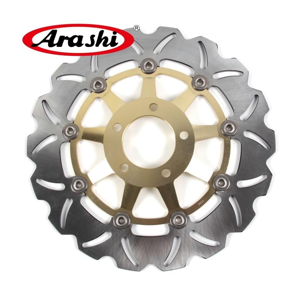 Arashi 1PCS For SUZUKI GS E 500 1989-2003 CNC Front Brake Disc Brake Rotors GSE GS500E 1996 1997 1998 1999 2000 2001 2002 2003 motorcycle front brake disc rotor for suzuki gsx 600 f 1989 1990 gsx 750 f katana 1998 1999 2000 2001 2002 2003 gold