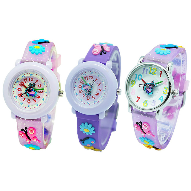 Kids Simple Casual Wrist Watches Girls and Boys Fashion Silicone Strap Watches C