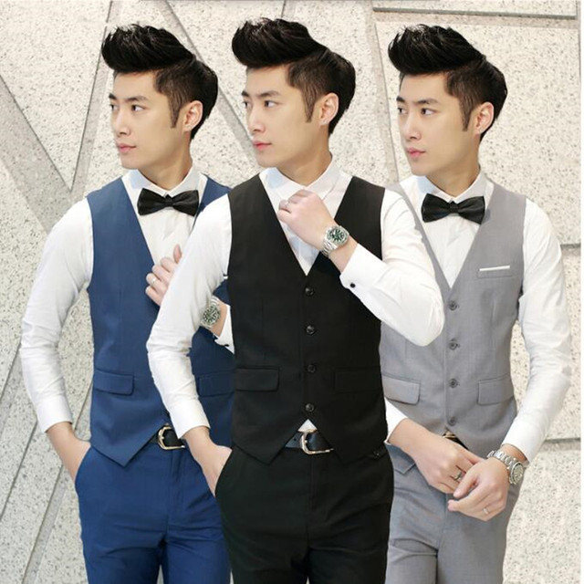 8998c92ed50c Latest design style men waistcoat custom made men's wedding tuxedos vest  solid color slim fit groom