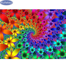5D Diy Diamond Painting Mandala Cross Stitch Full Square Rhinestone Pictures Diamond Embroidery Patchwork Mosaic abstract flower