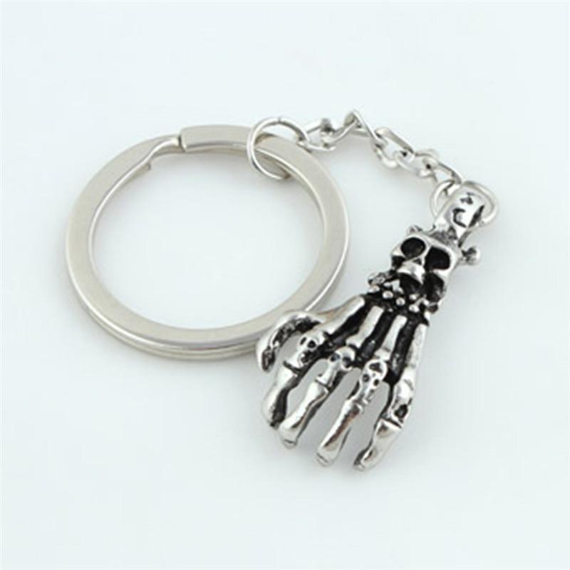 Skeleton hand Bird skull sugar skeleton Charm Key Chain Ring For Keys Car Bag Key Ring Handbag Keychain skull Halloween Gift