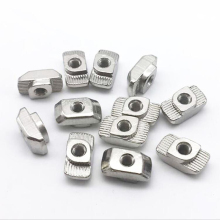 100pcs/lot M4 Hammer Nut Aluminum Connector T Fastener Sliding Nickel Plated Carbon Steel for 2020 Profile