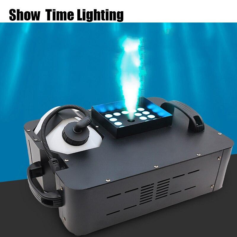 Good Effect 1500W Fog Machine With Led Color Effect Remote DMX 512 Control Vertically Spray Fog Like CO2 Machine Spray