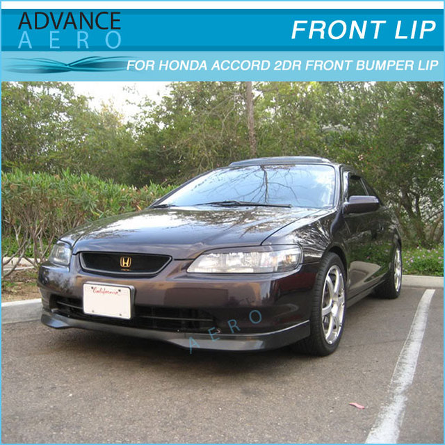 For 98 99 00 Honda Accord Coupe 2dr T R Style Urethane Front Per Lip Spoiler Pu
