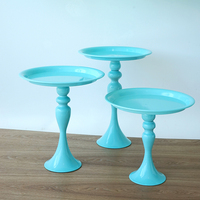Europe blue cake stand metal cake tools for dessert table wedding party decoration home storage rack serving tray DGJ047