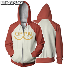 Anime One Punch Men Hoodies Saitama Oppai Cosplay Costume Zipper Hooded Sweatshirts Halloween Jacket Outfit With Pocket