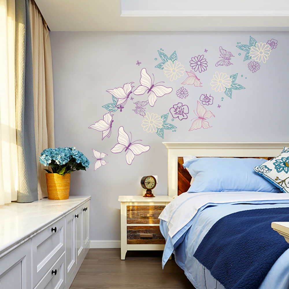 Study Room Decoration Diy: Aliexpress.com : Buy Butterfly Wall Sticker Bedroom Home