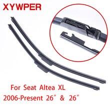 XYWPER Wiper Blades for Seat Altea XL 2006 2007 2008 2009 2010 2011-2016 26″&26″Car Accessories Soft Rubber Car Windscreen Wiper