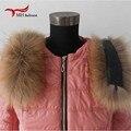 2016 inverno moda Cachecóis & Wraps coleiras, lenços de golas de pele de guaxinim, cachecol gola de pele feminino L #23