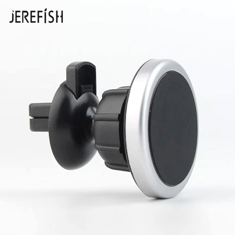 JEREFISH Universal Magnetic Car Holder Air Vent Mount 360 Rotation Smart Magnet Car Phone Holder With Cable Clip For IPhone