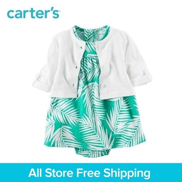 22270b8fb12 Carter s 2pcs baby children kids 2-Piece Bodysuit Dress   Cardigan Set  121H354