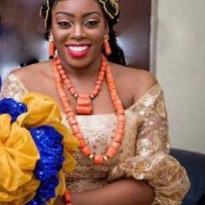 Набор ювелирных украшений URORU в африканском стиле, оригинальный набор украшений для женщин из коралловых бусин, модное Двухслойное ожерель...