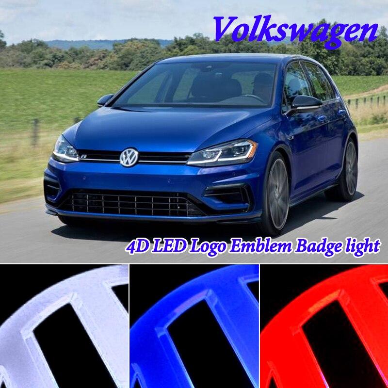 11cm LED Badge Emblem Logo Light for Volkswagen VW passat b6 b5 b5 5 b7 b8