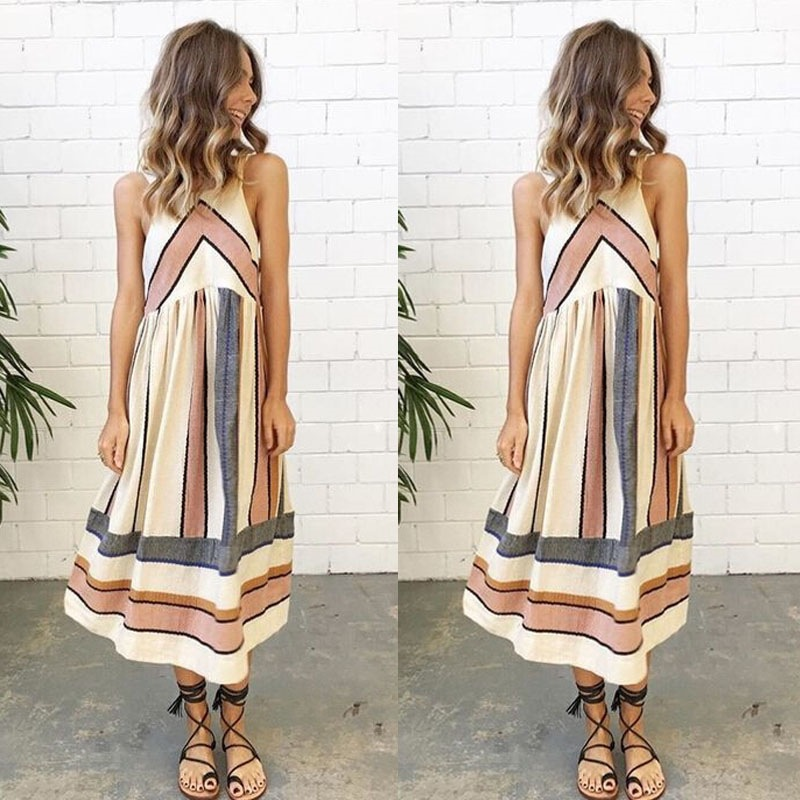 Women Pregnancy Dresses Strappy Sleeveless Bodycon Knee Length Dresses for Summer Casual Wearing