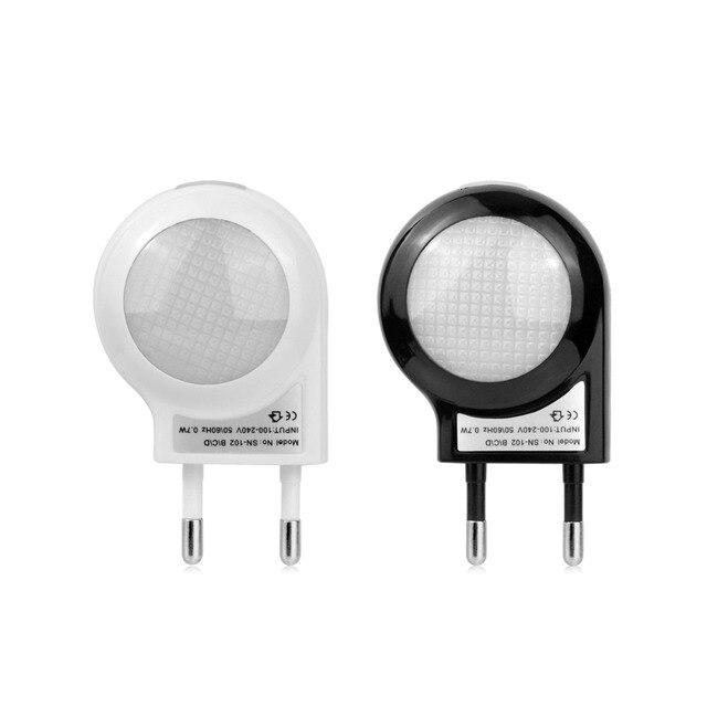 Fresh LED Night Light EU Standard Plug In Wall Lamp 220V 110V 0 7W Automatic Light Sensor Elegant - Minimalist led light sensor Modern