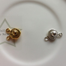 8MM 40Pcs Silver & Gold Color Jewelry Clasps & Hooks For Necklace & Bracelet Clasp Jewelry Findings & Accessories