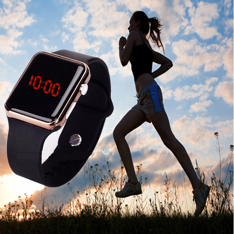 Women Men Unisex Sport LED Digital Wristwatch Silicone Strap Hot Electronic Watches Clocks Relogio Feminino 2019