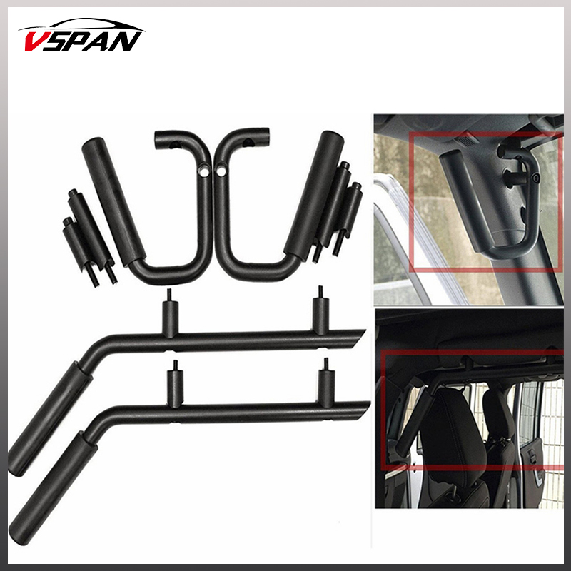 Front Rear Seat Grab Handles Grab Bars for Jeep Wrangler JK TJ Rubicon Sahara 2 4