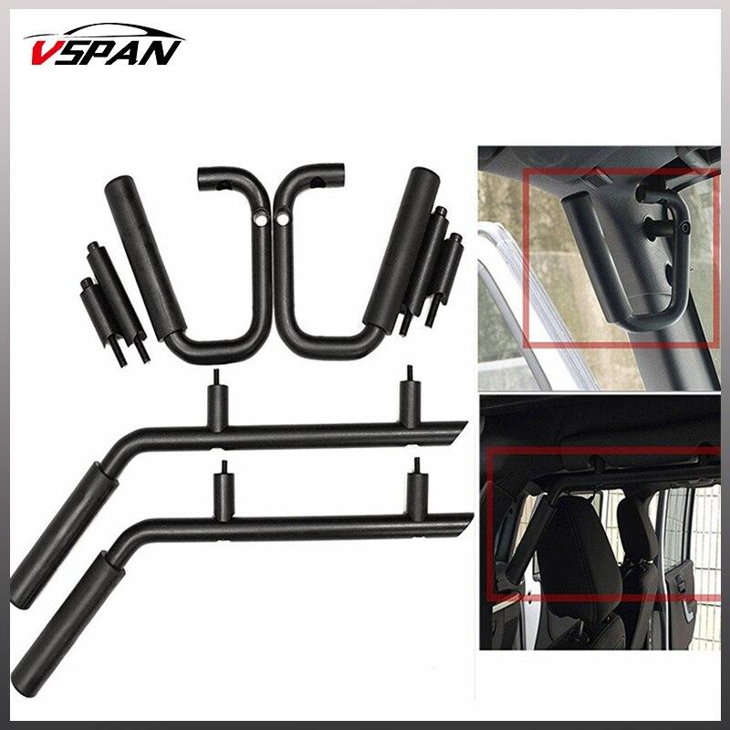 Poignées de maintien de siège avant/arrière barres de maintien pour Jeep Wrangler JK TJ Rubicon Sahara 2 & 4 poignées de maintien de porte 2007-2016 accessoires de voiture