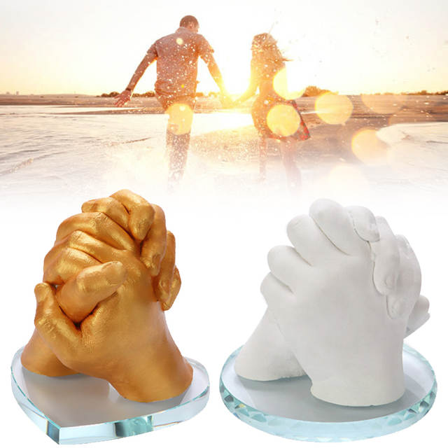 DIY Hand And Foot Model Clone Powder Kit Three-dimensional Gypsum Powder  Funny Gifts 3D Plaster Handprints Molding Clone Power