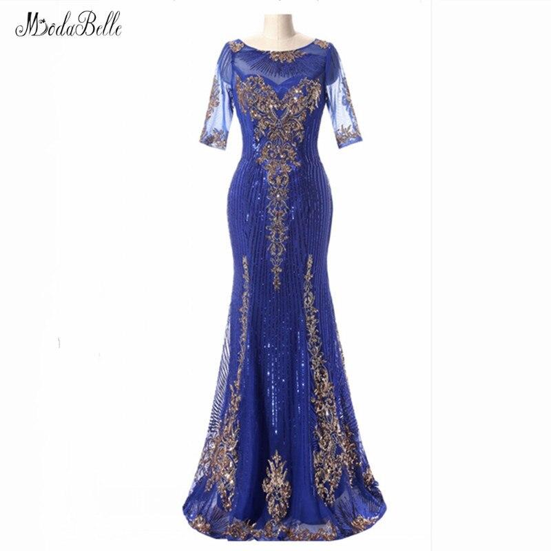 modabelle Royal Blue Long Mermaid Sequins Evening Dress Tulle Lange Jurk Black Women Formal Prom Party Gowns Burgundy
