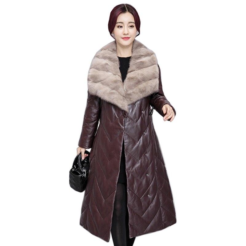 Women Warm Jackets Female Casual Long Coat Women Winter Faux   Leather   Fur Collar Jackets Outerwear Plus Size Female Cotton Coat