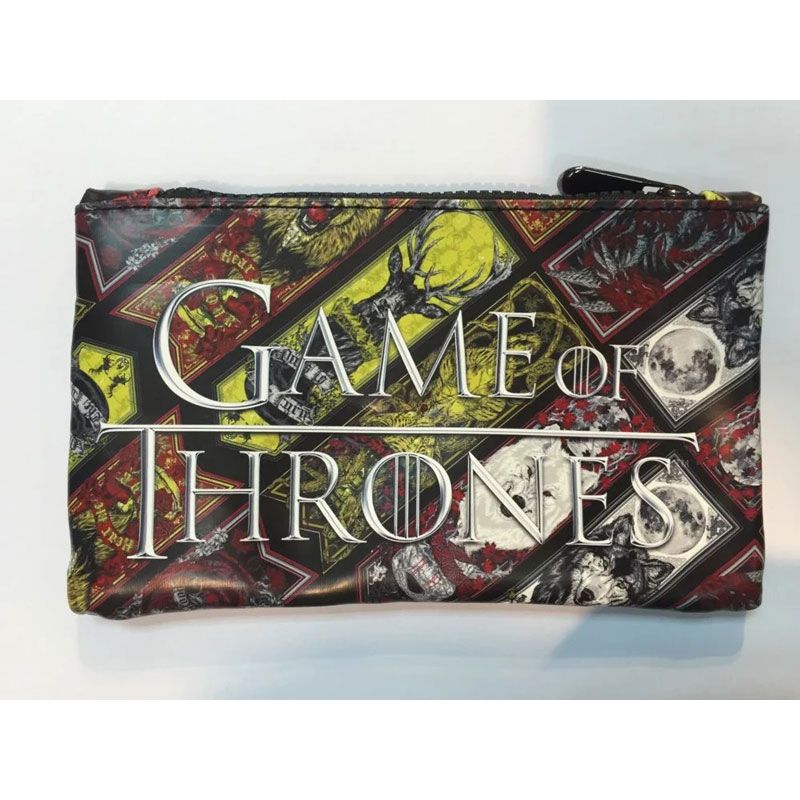 Game of Thrones Purse Leather Wallet Pen Pencil Bags for Students Stationery Bag portemonnee Animation Boy Girl Fashion Wallets