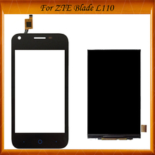 Tested OK 4inches For ZTE Blade L110 LCD Display +Touch Screen Spare Parts For ZTE L 110 Screen Lcd