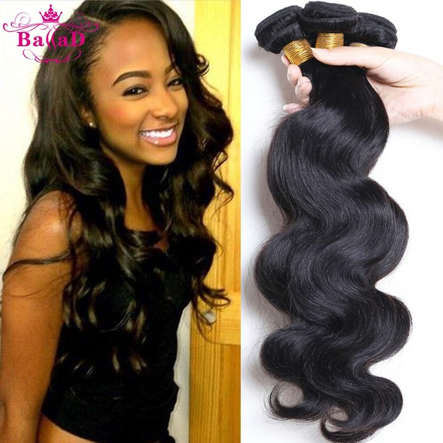 4 Bundles Malaysian Body Wave Natural Color 100 Human Hair