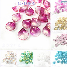 New Crystal Loose Leaf Shape Beads Fit for Jewelry Accessory Fashion Glass Loose Leaf Beads mixed color  y12567