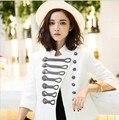 Francês marca BÁLSAMO mulheres primavera casaco de lã designer de jaqueta de Napoleão royal pista do vintage Duplo Breasted fino blazer outerwear